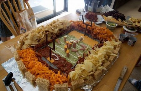 Football Stadium Made Of Food