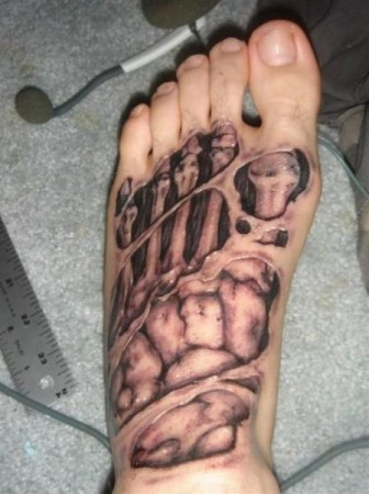 Crazy Foot Tattoo